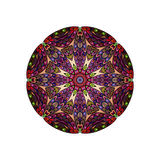 Colorful round mandala template. Hanw drawing doodle lines. Like fish scales together Royalty Free Stock Images