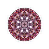 Colorful round mandala template. Hanw drawing doodle lines. Like fish scales together Stock Photos