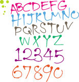 Colorful Round pen font. Funny colorful Round pen font Stock Photography