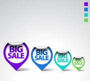 Colorful Round Sale Labels Stock Photos