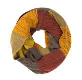 Colorful round scarf. Isolate on white Royalty Free Stock Photos