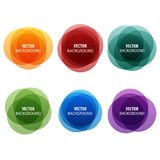 Colorful round shape abstract banners Royalty Free Stock Photo