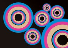 Colorful Round Shape Image design.Abstract Colorful background Design Stock Photography