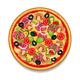 Colorful Round Tasty Pizza Royalty Free Stock Image