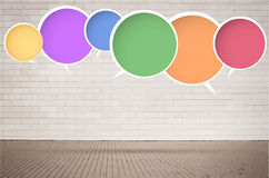 Colorful round vector speech bubbles with shadow Royalty Free Stock Photography