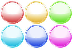 Colorful round web buttons Royalty Free Stock Image