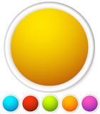 Colorful rounded button background with empty, blank space for y Stock Images