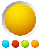 Colorful rounded button background with empty, blank space for y Royalty Free Stock Image