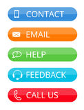 Colorful rounded contact buttons Royalty Free Stock Photography