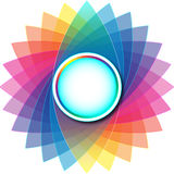 Colorful Rounded Empty Background Royalty Free Stock Photography