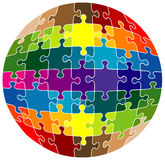 Colorful rounded puzzle Stock Photos
