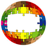 Colorful rounded puzzle Royalty Free Stock Photography