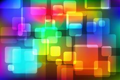 Colorful Rounded Square Abstract Background. Vector Illustration stock illustration