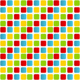 Colorful rounded squares seamless pattern Royalty Free Stock Photo