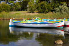 Colorful Row Boats Royalty Free Stock Image