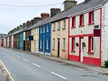 Colorful Row Houses stock images