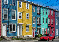 Colorful row houses. Brightly colored row houses in St. John's, NL Stock Photography