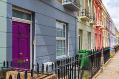 Colorful row houses in Camden, London Royalty Free Stock Photo