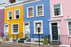 Colorful row houses stock photos
