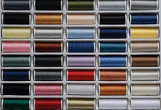 Colorful rows of sew garn Stock Photography