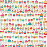 Colorful Rows of Whimsical Cupcakes Stock Image
