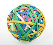 Colorful Rubber Band Ball Royalty Free Stock Photos
