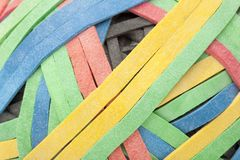 A colorful rubber band ball Royalty Free Stock Photo