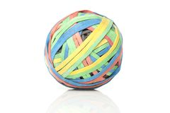 A colorful rubber band ball Stock Image
