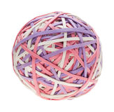 A colorful rubber band ball Stock Photo