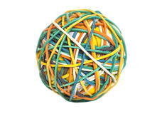 Colorful rubber band ball Stock Image