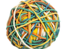 Colorful rubber band ball Royalty Free Stock Images