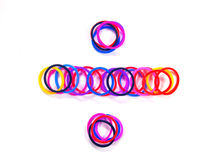 Colorful rubber band divide symbol Royalty Free Stock Image