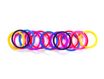 Colorful rubber band minus symbol. Stock Photos