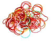 The colorful rubber bands royalty free stock photo