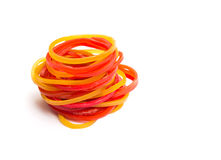 Colorful rubber bands  Royalty Free Stock Images