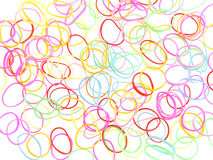 Colorful rubber bands agains Stock Photo