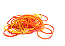 A Colorful rubber bands isolated Stock Images