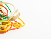 Colorful rubber bands Stock Photos
