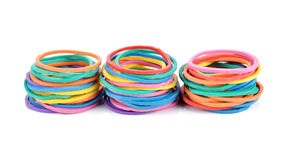 Colorful rubber bands Royalty Free Stock Photography