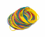 Colorful rubber bands Stock Images