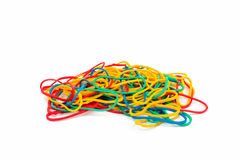 Colorful rubber bands Royalty Free Stock Photos