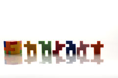 Colorful rubber blocks. Stock Photos