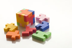 Colorful rubber blocks. Stock Photo