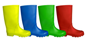 Colorful Rubber Boots Stock Photography