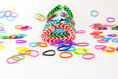 Colorful rubber bracelet Royalty Free Stock Photo