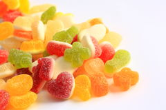 Colorful rubber candy of various shapes Stock Photography