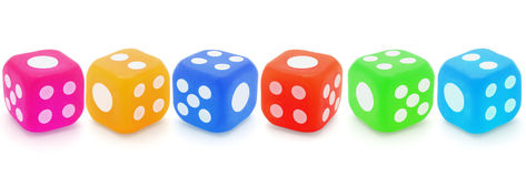 Colorful rubber dices Royalty Free Stock Photo