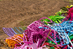 Colorful rubber on the ground Stock Photos