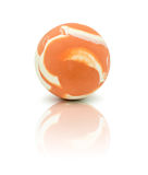 Colorful rubber marble ball isolated on white Royalty Free Stock Images