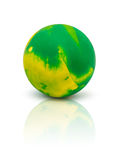 Colorful rubber marble ball isolated on white Stock Photo